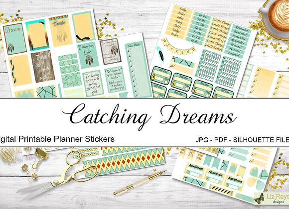 Digital-Printable-Planner-Stickers-Catching-Dreams Collection