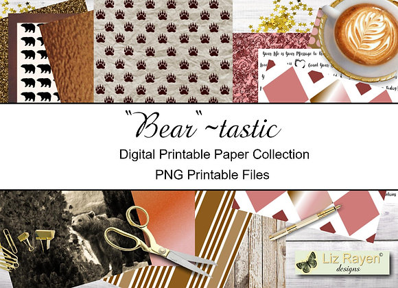 Digital Printable Papers - Bear-tastic Collection - Instant Download