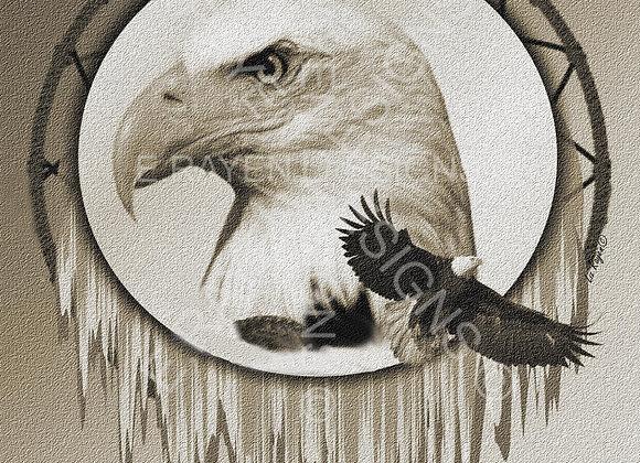 WALL ART DECOR, 8 x 10  Printable Download, Eagle Animal Spirit