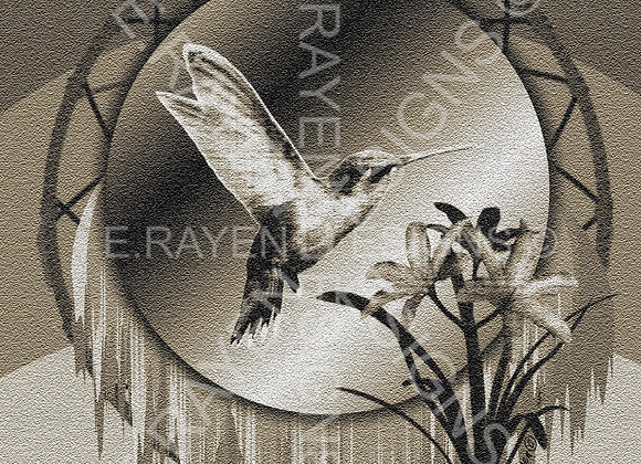 WALL ART DECOR, 8 x 10  Printable Download, Hummingbird Animal Spirit
