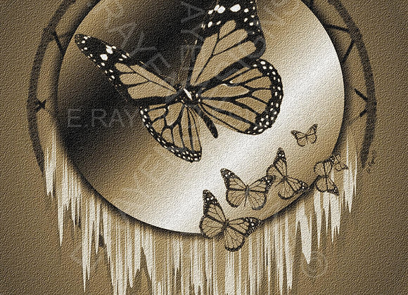 WALL ART DECOR, 8 x 10  Printable Download, Butterfly Animal Spirit