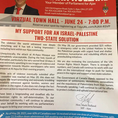 In Defense of Israel: A letter to a Member of Parliament