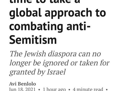 TheFridayReport: It's time to take a global approach to combating antisemitism
