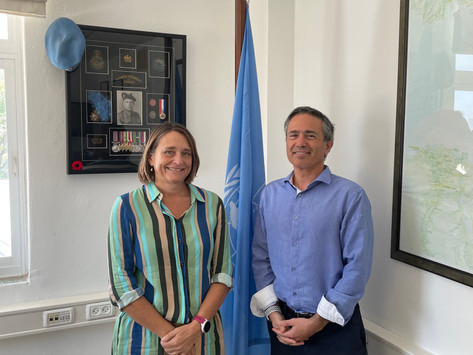 Press Release: AGPI Chairman received by UN Peace Process Deputy - Separately By Major Druze Leader