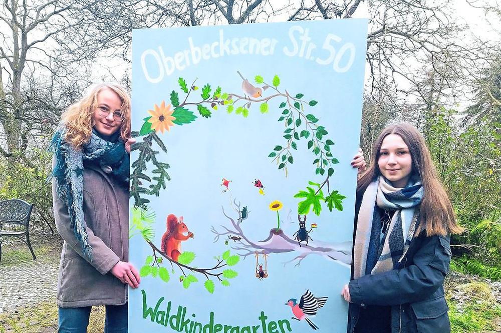 Neues Schild für den Vlothoer Waldkindergarten