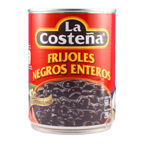 Frijoles negros enteros (haricots noirs)