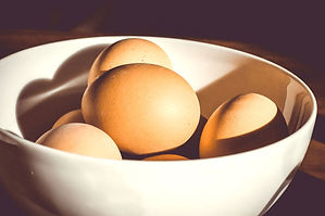 ボウルで卵