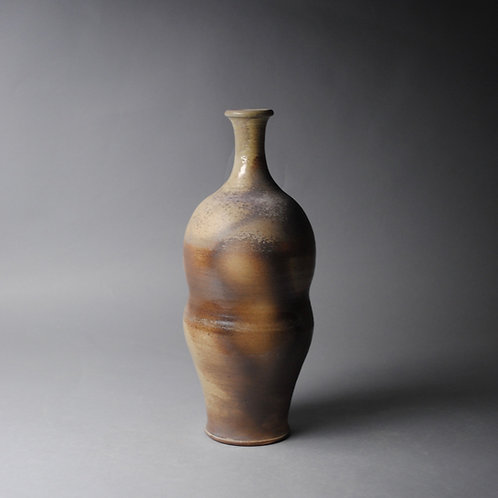 Clay Vase Bottle Wood Fired I 56