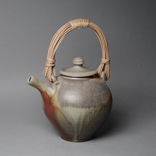 Wood Fired Teapot with Handmade Handle J 54
