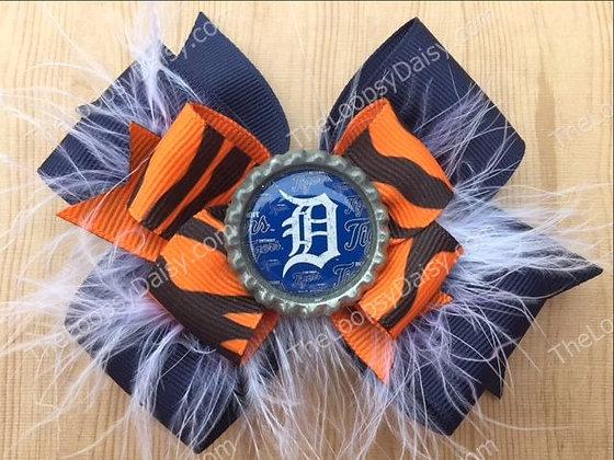 Detroit Tigers Hair Bow