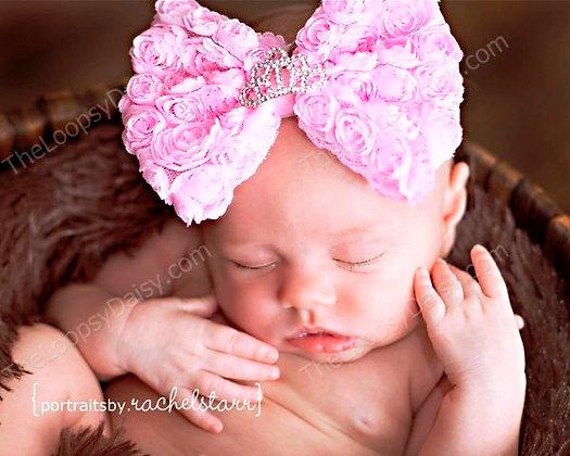 """Perfect Princess"" Rosette Bow Headband"