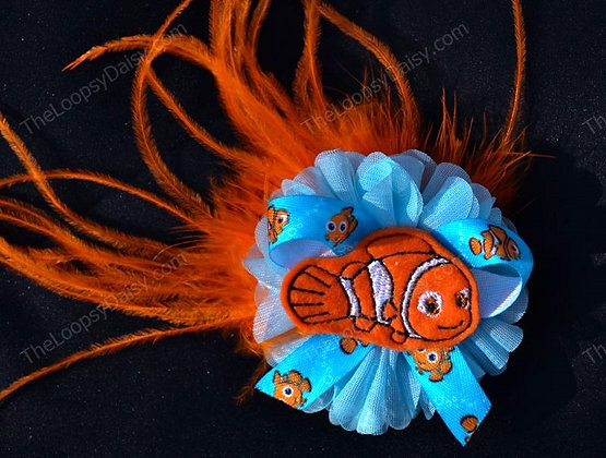Finding Nemo-inspired Fantasy Feather Bow