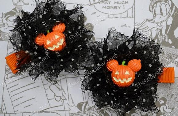Halloween Mickey Shabby Clippies