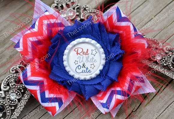 Red, White and Cute Bow