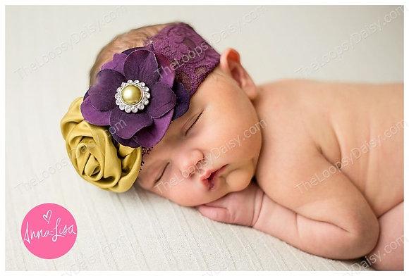 "Lovely ""Lady Abbey"" Floral Headband"