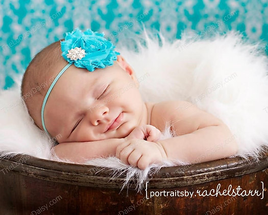 Shabby Blooms and Bling Headband in your color cho