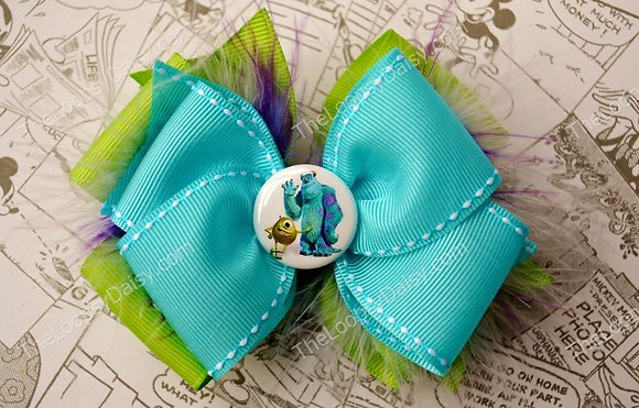 Monster's Inc. inspired Hair Bow