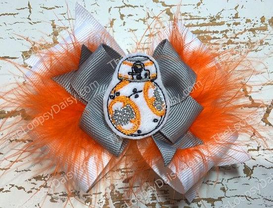 Star Wars BB8-inspired Hair Bow