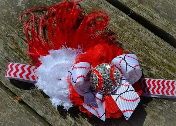 "Sports-themed ""Play Ball"" Feather Headband"