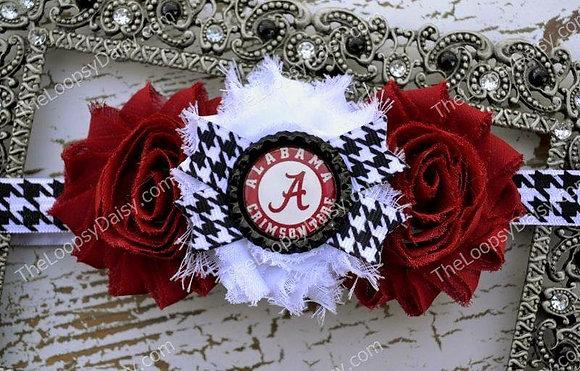 "University of Alabama ""Roll Tide"" Headband Bow"