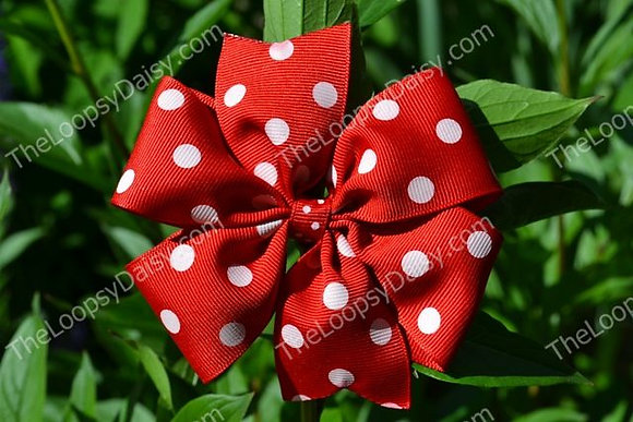 Minnie Mouse Inspired Pinwheel Bow