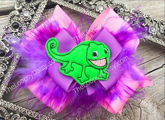 Rapunzel Pascal Inspired Hair Bow