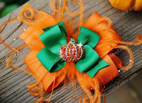 Pumpkin Sparkle Bow