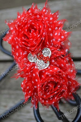 Red Sparkle Mouse Headband