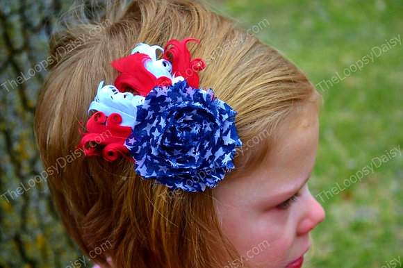 Stars and Stripes Feather Hairpiece