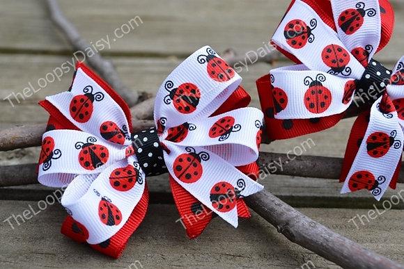 Ladybug Hair Bow