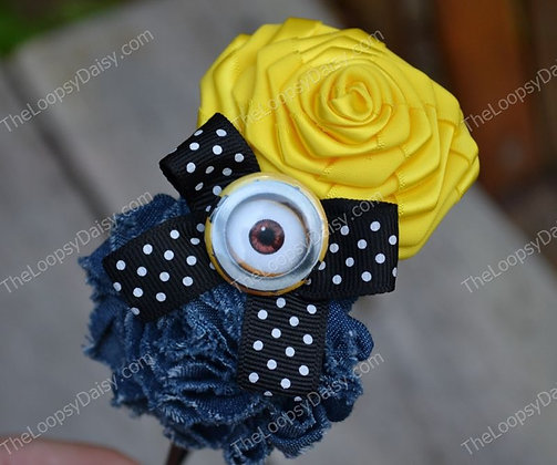 Unique Minion-inspired Bow Headband