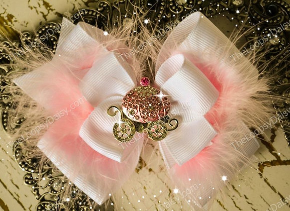 Fairytale Princess in Pink Hair Bow