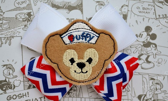 Darling Duffy Bear Hair Bow