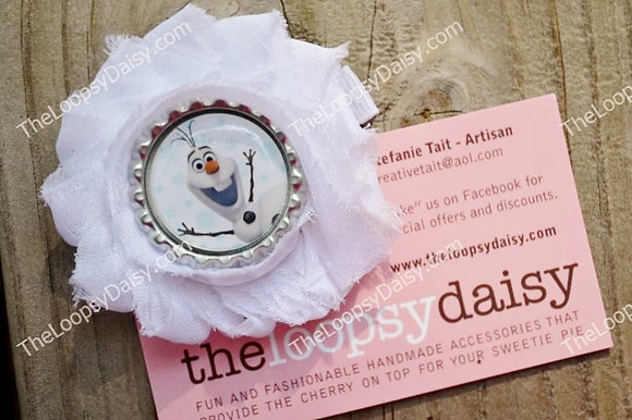 Olaf Inspired Bow