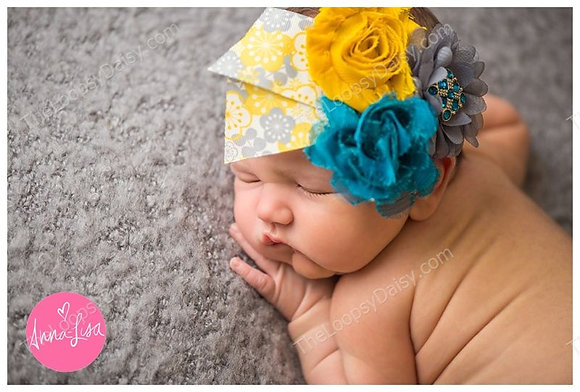 "Beautifully Colored ""Floral Dreams"" Headband"