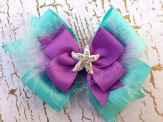 Lovely Little Mermaid Ariel-inspired Bow