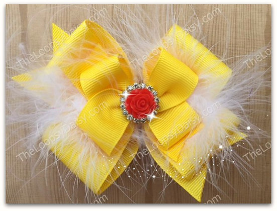 Belle (Beauty and the Beast) Hair Bow