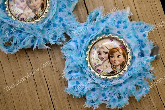 Frozen-inspired Clippies - Elsa and Anna in Blue