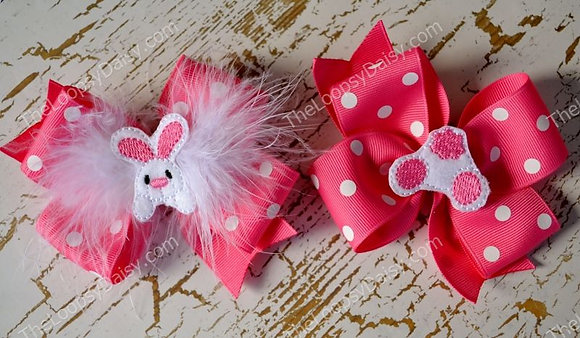 Easter Bunny Bow Pair