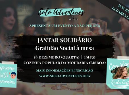 Convite: Jantar Solidário | Gratidão Social à Mesa!