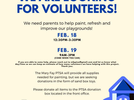 Volunteers & Donations Needed For Playground Project