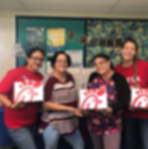 The 2019-2020 Executie PTSA Board deliering Chik-Fil-A to teaches and staff to celebrate100% teacher membership!