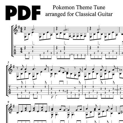 Pokémon Theme Tune arranged for Classical Guitar