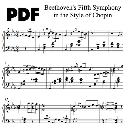 Beethoven's Fifth Symphony (in the Style of Chopin)