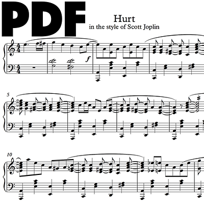 Hurt (in the Style of Scott Joplin)
