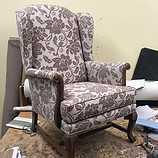 Just finished two antique wing chairs in