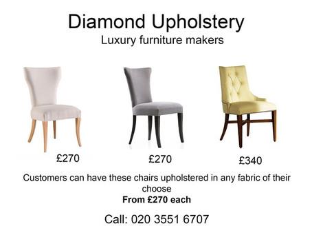 Bespoke luxury dining chairs