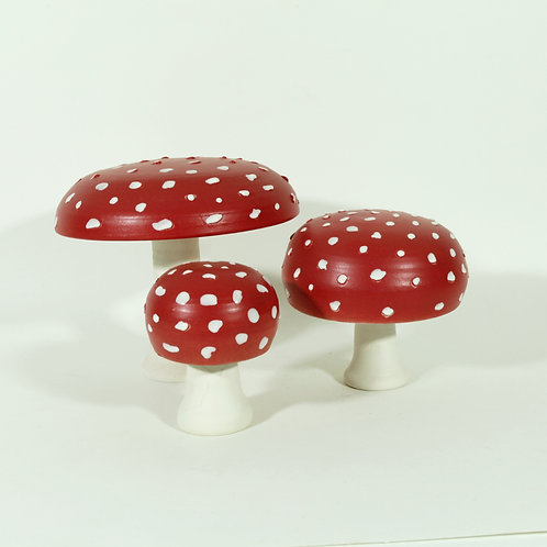 Set paddenstoelen (groot)  - vliegenzwam II
