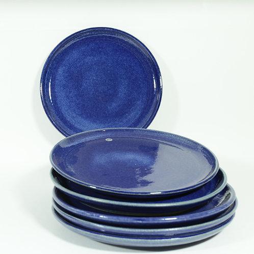 Plat bord - blauw