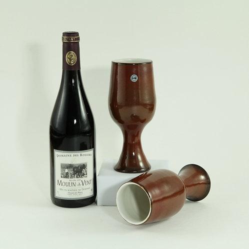 Wijnbeker - roodbruin